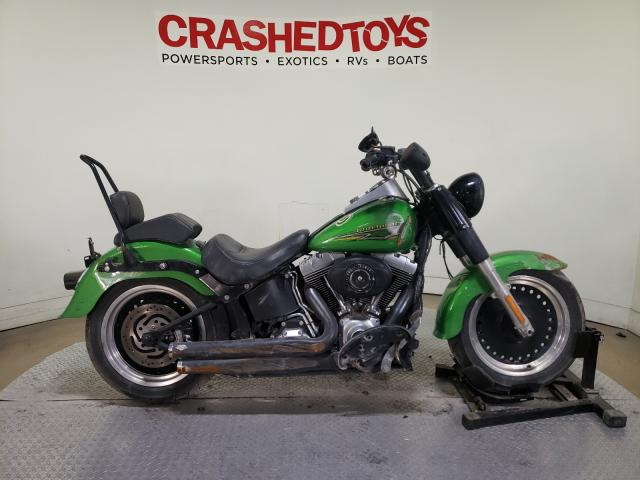 Salvage motorcycles for sale at Dallas, TX auction: 2015 Harley-Davidson Flstfb FAT