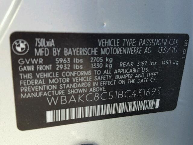 2011 BMW 750LXI
